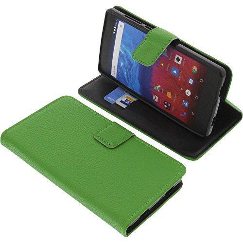 foto-kontor Tasche für Archos Core 50 Book Style grün Schutz Hülle Buch