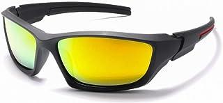 GR Men's Sports Polarized Sunglasses Outdoor Riding Glasses Windshield Sunglasses Colorful Mirror UV400 Night Version for Night Driving Glasses Prevent Glare (Color : Yellow)