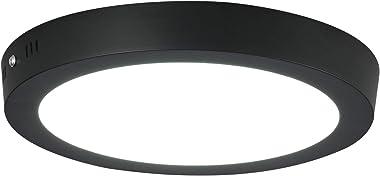Jaycomey - Lámpara de techo redonda de 24 W, LED superbrillante, montaje en superficie, para baño, balcón, cochera, comedor,