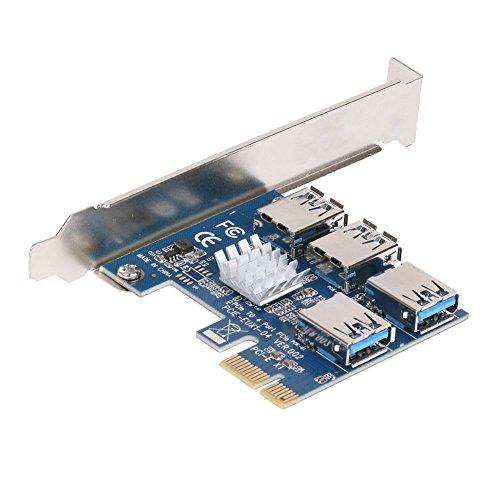 Gaoominy Pci-E vers L'Adaptateur Pci-E 1 Tournez 4 Slot Pci-Express 1X vers 16X USB 3.0 Exploitation Spéciale De La Carte De Montage De La Carte De Montage pour La Carte D'Extension