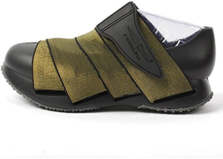 Fessura Mens Mummy shoes New Light Black Ousole gold Upper color
