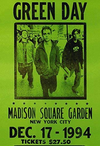 Green Day Concert Poster Card 12 x 18 inch (30cmx46cm)(Rolled) Frameless Gift