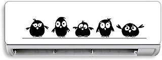 BLOUR Creativo Aire Acondicionado Etiqueta de la Pared Lindo pájaro Pegatinas Personalidad Etiqueta de la Pared para Sala de Estar Dormitorio Vidrio decoración del hogar