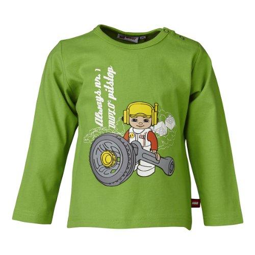 LEGO Wear T-shirt Col ras du cou Manches longues Bb garon - Vert - Grn (839 GARDEN GREEN) - FR : 12 mois (Taille fabricant : 80)