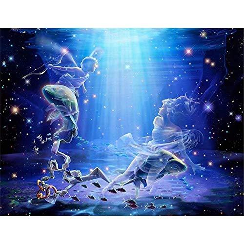 La pintura de DIY por los kits de diamante para adultos, niños, Ministerio del Interior de decoración de interior. Presenta regalo para ella él Spirits In The Sea 15.7x11.8in 1 Pack By ARMANII