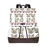 Mochila Escolar, Leather Fashion Pig Heads Backpack For Work/Travel/Leisure/School Bag