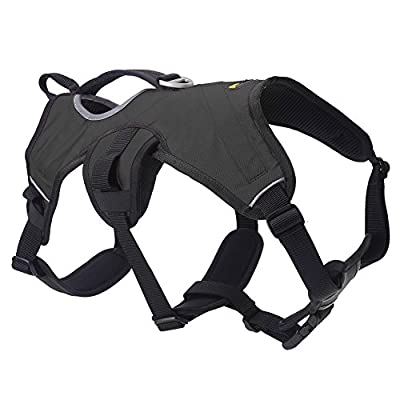 SCENEREAL Escape Proof Large Dog Harness - Outdoor Reflective Adjustable Vest with Durable Handle and Leash Ring for Medium Large Dogs Training Walking Hiking
