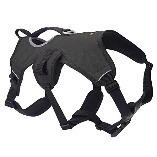 Escape Proof Large Dog Harness - Outdoor Reflective Adjustable Vest with Durable Handle and Leash Ring for Medium Large Dogs Training Walking Hiking, Black M