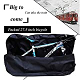 27.5 inch Bike Travel Bag Heavy Duty 1680D Oxford Cloth Folding Bicycle Carry Bag Pouch Transport Cover Carrying Case for Transport,Air Travel,Shipping