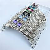 GuoFa 10PCS 4.1'/10.5CM Frame Purse Coin Bag Kiss Metal Clasp Lock DIY Craft Assorted Lotus Bead Sliver