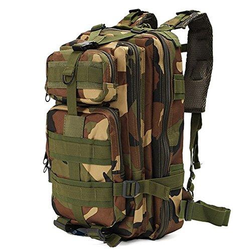 Minetom 30L Multi-Fonction Étanche Tactique Backpack Camouflage Militaire Sac à Dos Randonnée Trekking Camping Chasse Voyage Camouflage06 One Size