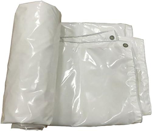 XIAOPING Bache de Prougeection Solaire épaissie bache Robuste bache de Camping Sauvage (Couleur   Blanc, Taille   5x7m)