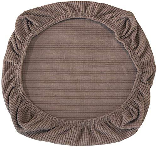 Yikko Fundas de asiento elásticas de spandex para sillas de oficina, comedor, bar, decoración de boda, (marrón)