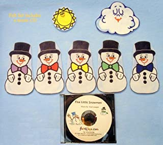 Snowmen Flannel Board Felt Set Story Time with Music CD