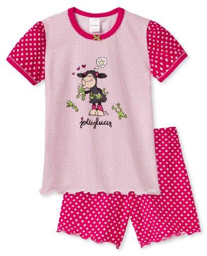 Schiesser Mädchen Pyjama kurz Schaf küss Frosch von NICI 137651-100, Kleidergröße:128, Farbe:Weiß (100-white)