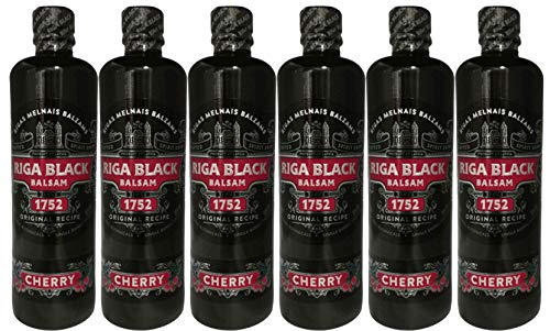 Riga Black Balsam Cherry 6er Set (6 x 0,5 L) Rīgas Melnais balzam Sparset