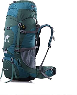 Outdoor Mountaineering Bag Multi-Function Travel Backpack Hiking Camping Backpack Large Capacity Adjustable Carrying System 70L ZHJDD (Color : A)