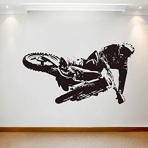 Mountain Bike Wall Stickers for Bedroom Kids Boys Room Wall Decals Home Living Room Decor Sticker Wallpaper Bike Art Mural,112.5x63cm