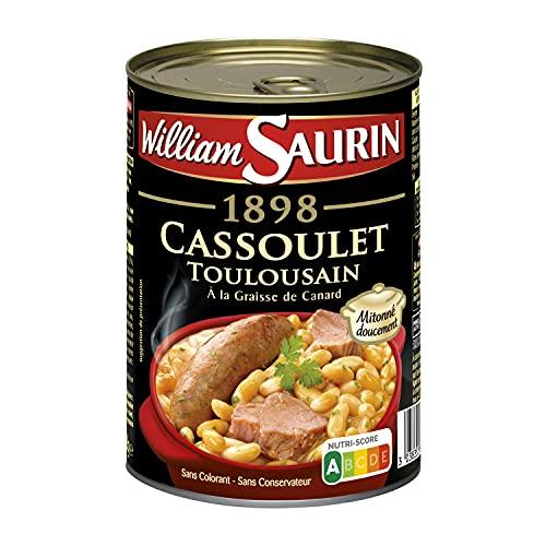 WILLIAM SAURIN - Cuisines De Pays Cassoulet Toulousain Au Porc 420 G - Lot De 4 - Offre Special