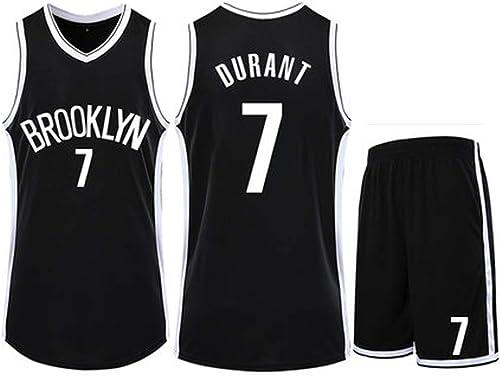 JIANGU Maillot pour Hommes Kevin Durant   7 - Maillot Swinghomme Basketball Nets engrener de Brooklyn, VêteHommests de Basket 2XS-XXXXL