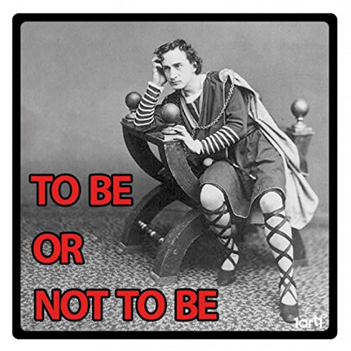 1art1 William Shakespeare Poster-Sticker Autocollant - Hamlet, to Be Or Not to Be (9 x 9 cm)