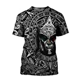 Vikings Aztec Warrior Mexican 3D All Over Printed Unisex 3D Print Design Long Sleeves Best Viking Shirt Tattoo