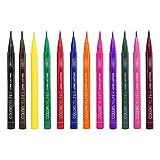 Lurrose 12pcs Rainbow Colors Liquid Glitter Eyeliner de larga duración a prueba de agua Eye Liner Sombra de Ojos maquillaje de ojos