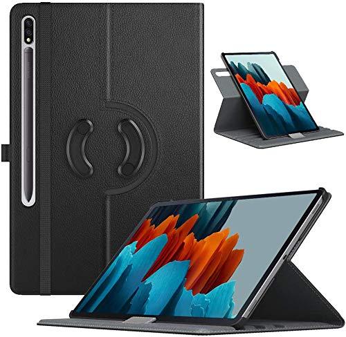 TiMOVO Custodia Protettiva Compatibile con Samsung Galaxy Tab S7 11 inch Tablet 2020 (SM-T870 T875), Cover a Rotazione 90 Gradi per Tablet, Case a Tre Sezioni, Nero