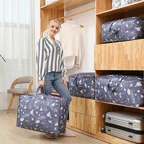 YAOUYYYSN Bolsa de almacenamiento de viaje para chaqueta de plumón para bebé antigua, impermeable, portátil, 70 x 30 x 50 x gato espacial