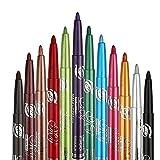12 Colores Delineador de ojos Eyeliner de color prueba de agua Eye Liner,Lápiz de Cejas Cosméticos de maquillaje de ojos Maquillaje