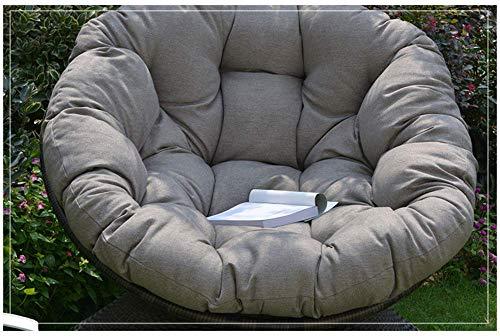 LYHY Cojín de Silla Egg Nest, cojín de Silla Papasan para Interior y Exterior Espesar Ronda Swing Chair Mat Almohada para Mecedora Pad Hanging Hammock-Silver 80x80x6cm