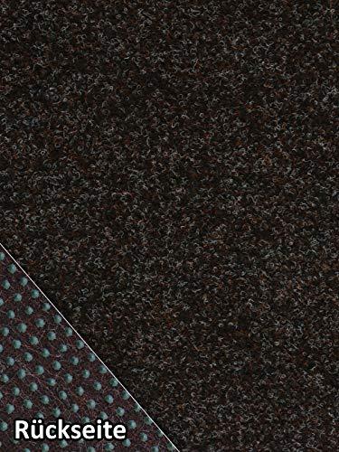 Rasenteppich Kunstrasen Premium dunkelbraun Velours Weich Meterware, verschiedene Größen, mit Drainage-Noppen, wasserdurchlässig (200x100 cm)