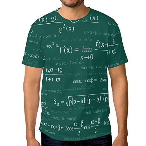 LUPINZ - Camiseta básica de Manga Corta para Hombre con diseño de fórmulas...