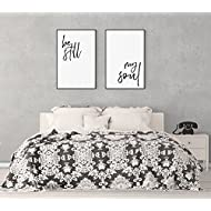 SpecsDecorCo Be Still My Soul Artwork/Set of 2 Prints/Minimalist Decor/Above The Bed Art/Bedroom Decor/Home Decor/Modern Trendy Artwork/Wedding Gift (16 x 20 Inches)