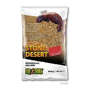 Exo Terra PT3140 Sonoran Ocher Stone Desert Substrate Desert Soil for Terrariums, Malleable, Yellow, 20 kg