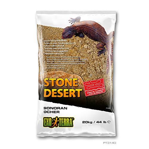EXO TERRA Sustrato de Paisaje Sonoran Ocher Stone Desert para terrarios (20 kg), Color Amarillo