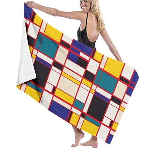 LREFON Toallas Estilo Mondrian para la Ducha,Toallas de baño, Fitness, Deportes al Aire Libre