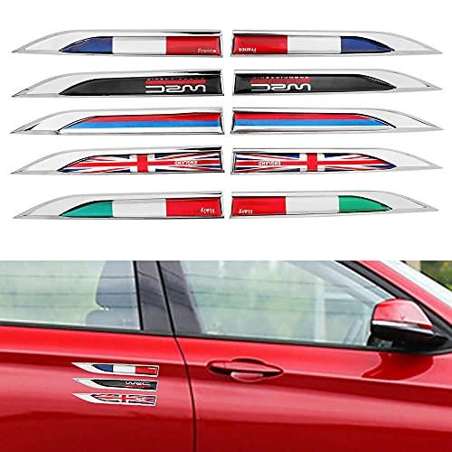 Bescalor Pegatinas laterales de coche para coche, pegatinas y calcomanías de coche, de Italia, Francia, Rusia bandera (estilo: para WRC)