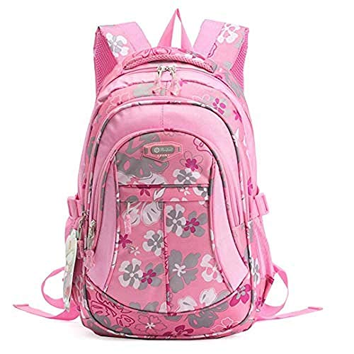 HONGYU-Mochilas Escolar Flor Estampada Primaria Junior High University Mochila Mochila Pequeña (Color : Stylea Pink)