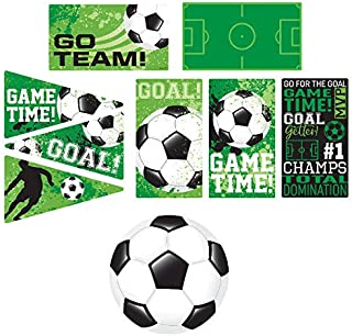 Amscan Soccer Value Pack Assorted Cutouts, Party Decoration