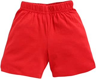 Hopscotch Boys and Girls Cotton Shorts in Red Colour