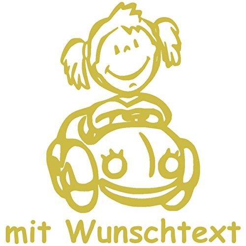 Babyaufkleber mit Name/Wunschtext - Motiv 414 (16 cm) - 20 Farben und 11 Schriftarten wählbar