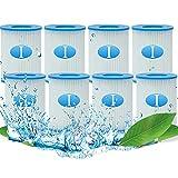 KHDFID Cartucho de filtro de piscina para Bestway tipo I, cartuchos de filtro tamaño 1 para Bestway 58093, tipo I, cartuchos de filtro de repuesto para bombas de piscina Bestway (8 unidades)