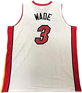 new style 2a6b3 d18dc Signed Dwyane Wade Jersey - White Custom - Autographed NBA Jerseys