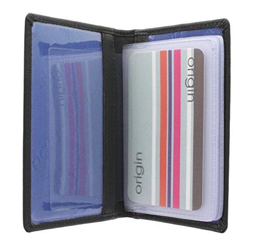Mala Leather Colección ORIGIN Tarjetero de Crédito de Cuero con Protección RFID 610_5 Negro