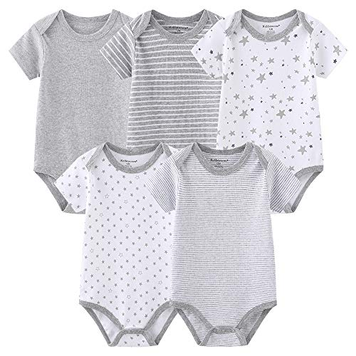 Baby Vests Onesies Bodysuits Short Sleeve for Boys and Girls 0-3...