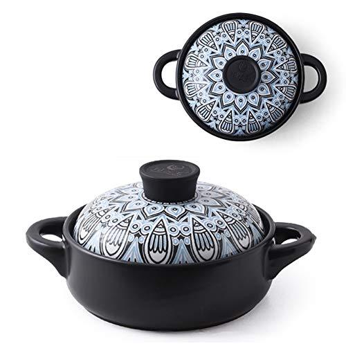Olla De Cerámica, Cazuela Japonesa De 1,5 L / 2,5 L, Resistencia a Altas Temperaturas, Cerámica, Olla De Cocina, Ideal Para Cocina Clásica, Olla De Sopa Saludable Cerámica/A / 1.5L