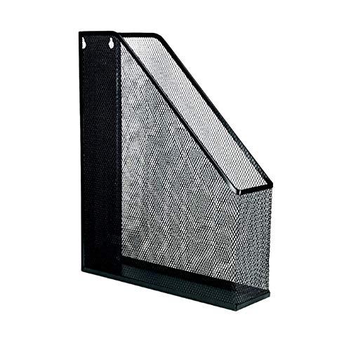 Unknow Alambre de Acero Fijo único Archivo de cuadrícula de revistas Archivo Rack Divisor archivador Estante de exhibición y Almacenamiento Caja de Almacenamiento Negro