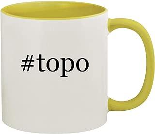 #topo - 11oz Hashtag Ceramic Colored Inside & Handle Coffee Mug, Yellow