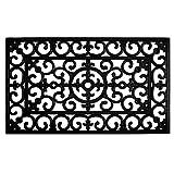 Calloway Mills 900092436 Fleur De Lis Rubber Doormat, 24' x 36', Black